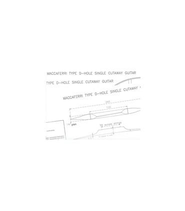 Maccaferri D-hole guitar plan